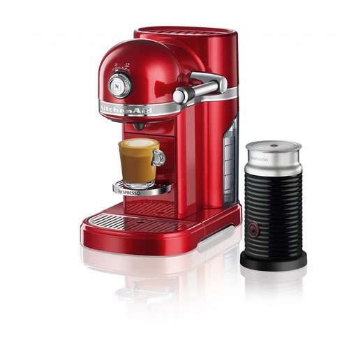 KES0504 Nespresso Machine in Candy Apple Red