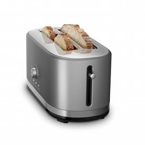 KMT4116 4 Slice Long Slot Toaster in Contour Silver