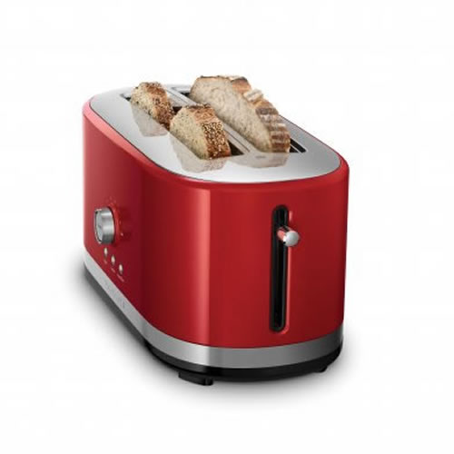 KMT4116 4 Slice Long Slot Toaster in Empire Red
