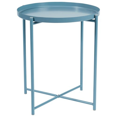 Alto Round Tray Lamp Table in Blue