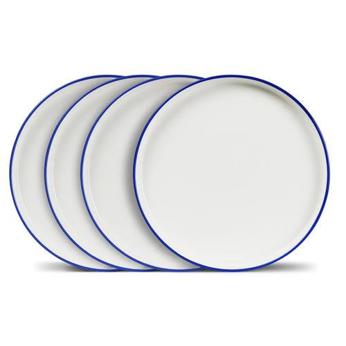 Crew Blue Rim 28cm Dinner Plate Set