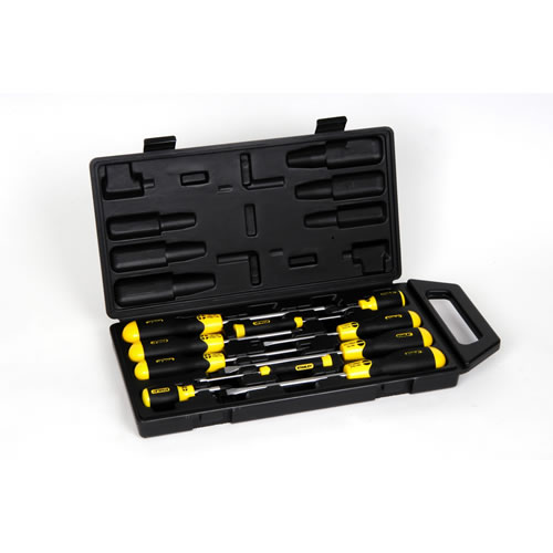 10pc Cush Grip Screw Driver Set