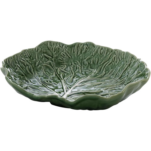 Cabbage Green Shallow Salad Bowl 35cm