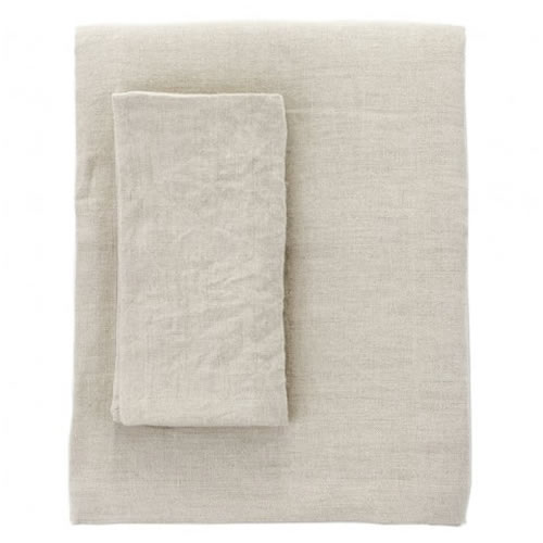 Moss Extra Large Linen Table Cloth in Natural