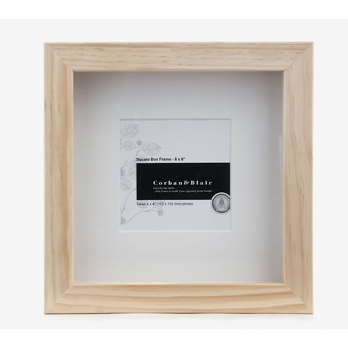 Square Box Frame 8x8 in Natural