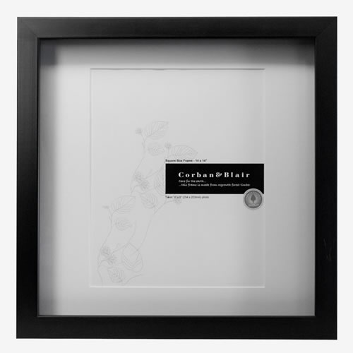 Square Box Frame 14x14 in Black