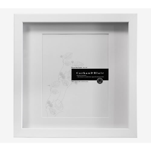 Square Box Frame 14x14 in White