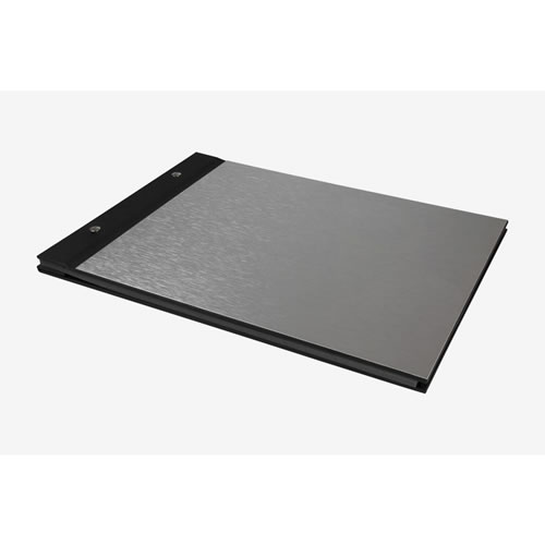 Album Metal & Black Book Cloth Engravable Medium