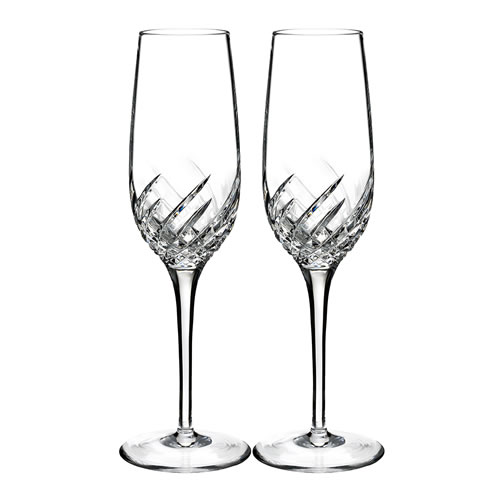 Waterford Crystal Essentially Waterford Wave Flute Pair