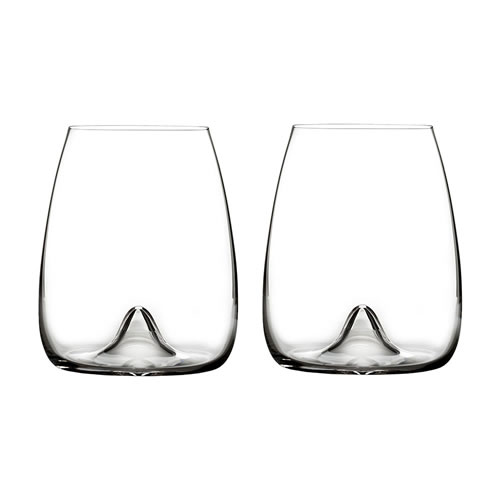 Elegance Stemless Wine Glass Pair