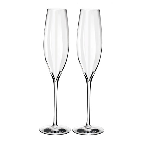Elegance Optic Waterford Crystal Classic Champagne Flute Pair