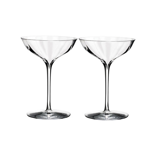 Elegance Optic Waterford Crystal Champagne Belle Coupe Pair