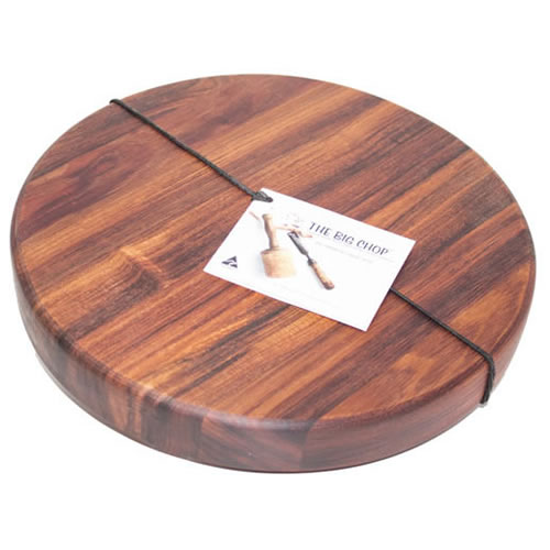 """Round Cutting Board  in Blackwood 33 x 4cm"""