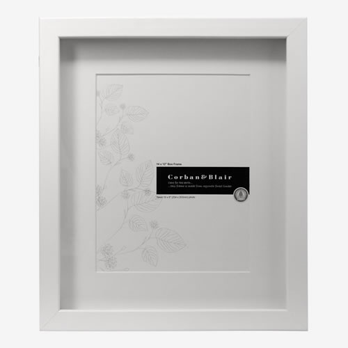 Box Photo Frame 14x12 in White