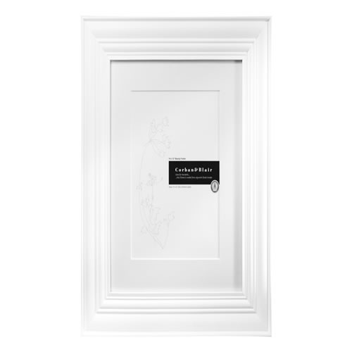 Beauty Photo Frame 14 x 12 in White