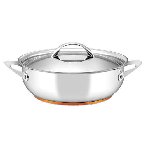 Per Vita Non Stick Covered Sautepan with Copper Base 28cm