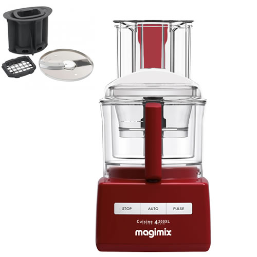 Magimix 4200XL Red with Bonus Dicing Kit Valued at $199