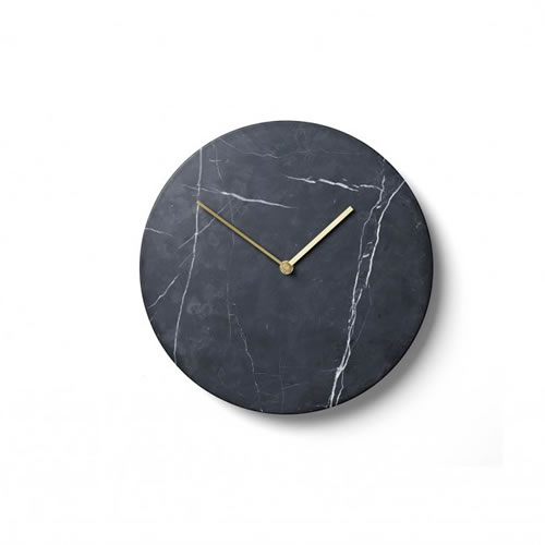 Menu Marble Wall Clock in Black