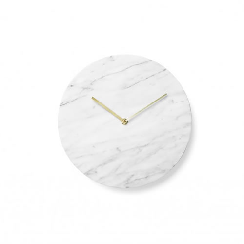 Menu Marble Wall Clock in White