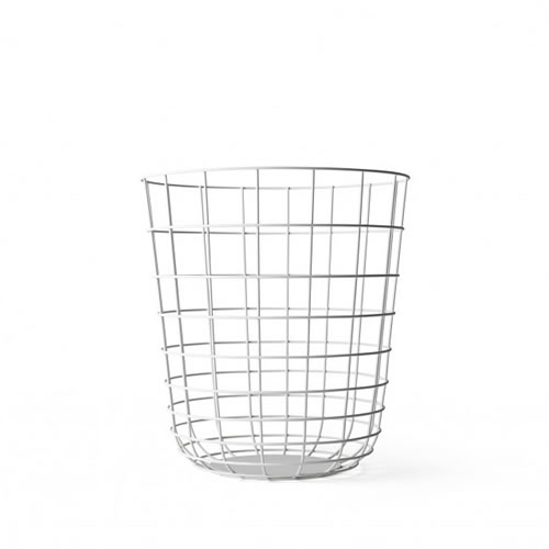 Wire Bin in White