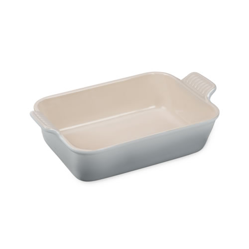 Mist Grey Heritage Deep Rectangular Dish 19cm