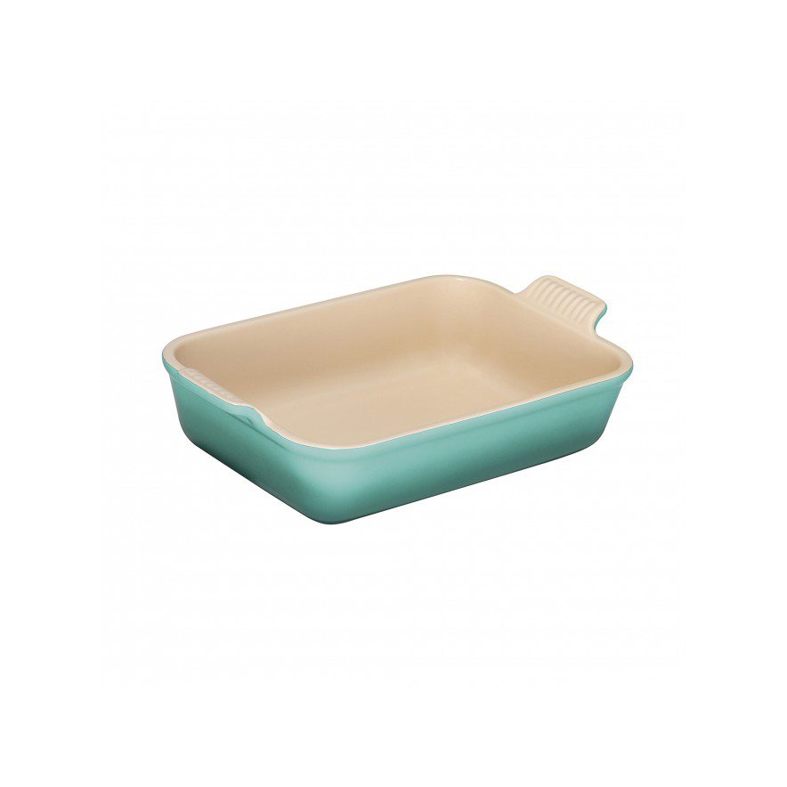 Stoneware Deep Rectangle Dish 26cm in Cool Mint