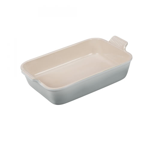 Mist Grey Heritage Deep Rectangular Dish 26cm