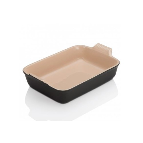 Satin Black Heritage Deep Rectangular Dish 32cm