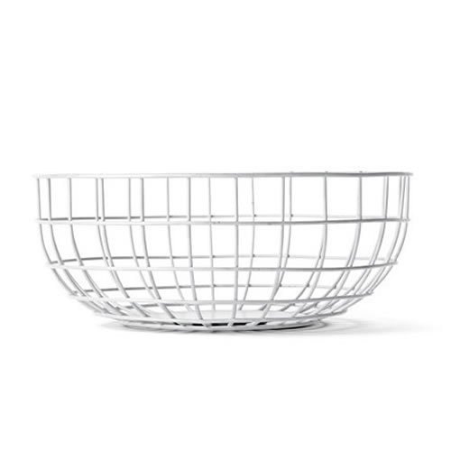 Norm Wire Bowl in White