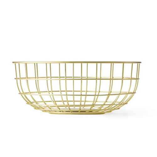 Norm Wire Bowl in Brass