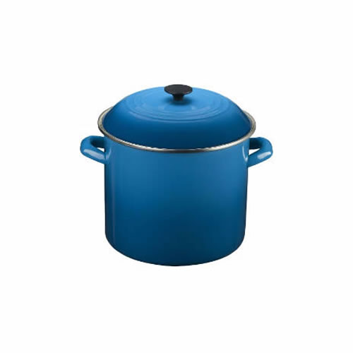 Marseille Blue Enamel on Steel Stockpot 28cm 15.2L