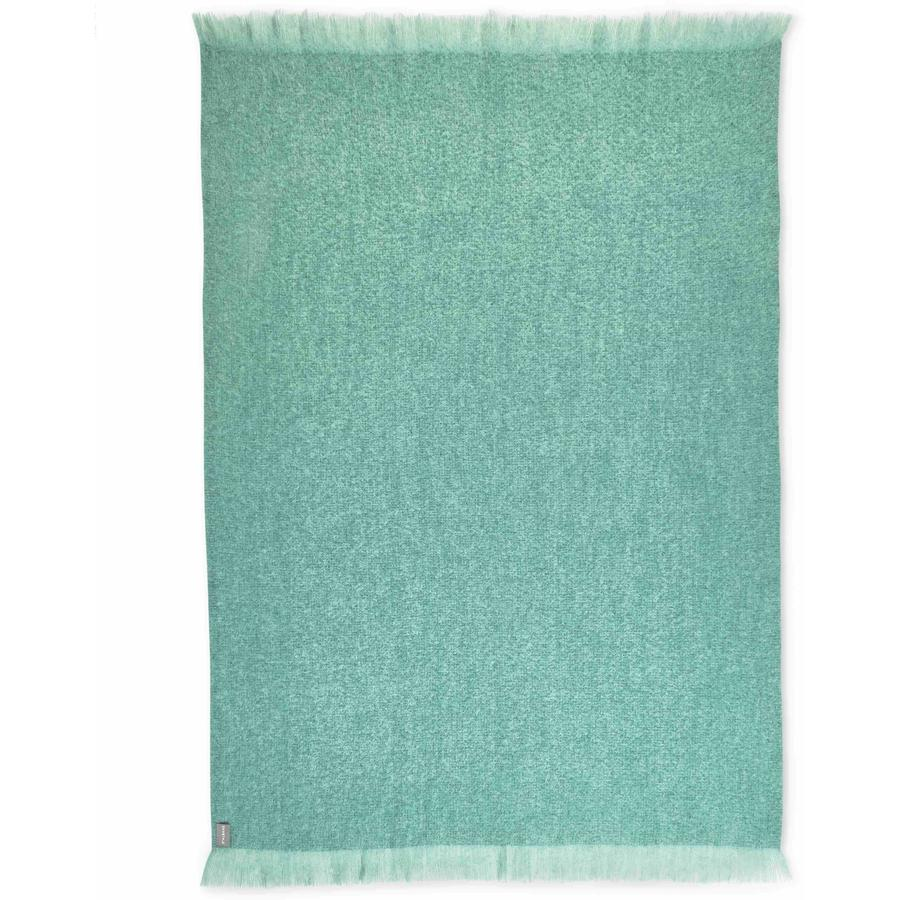 Mohair Woven Throw in Teal
