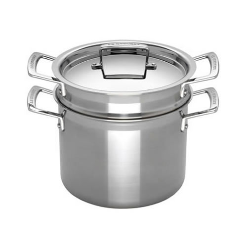 3-ply Stainless Steel Pasta Pot with Insert 20cm