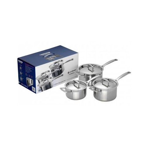 3-ply Stainless Steel 3-Piece Saucepan Set
