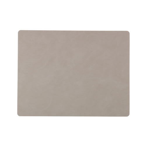 LIND DNA Table Mat Light Grey Square L