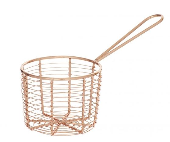Round Copper Serving Basket