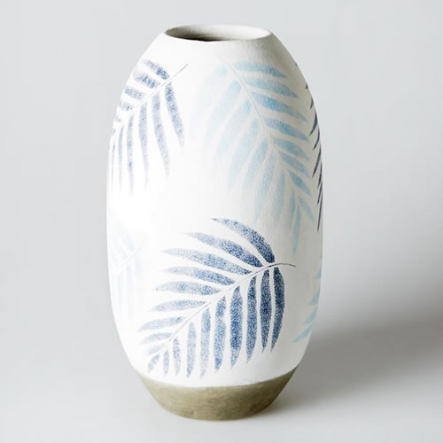 Blue Tropical Large Vase