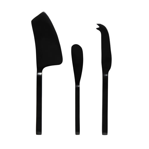 Asta 3 Piece Cheese Set Charcoal