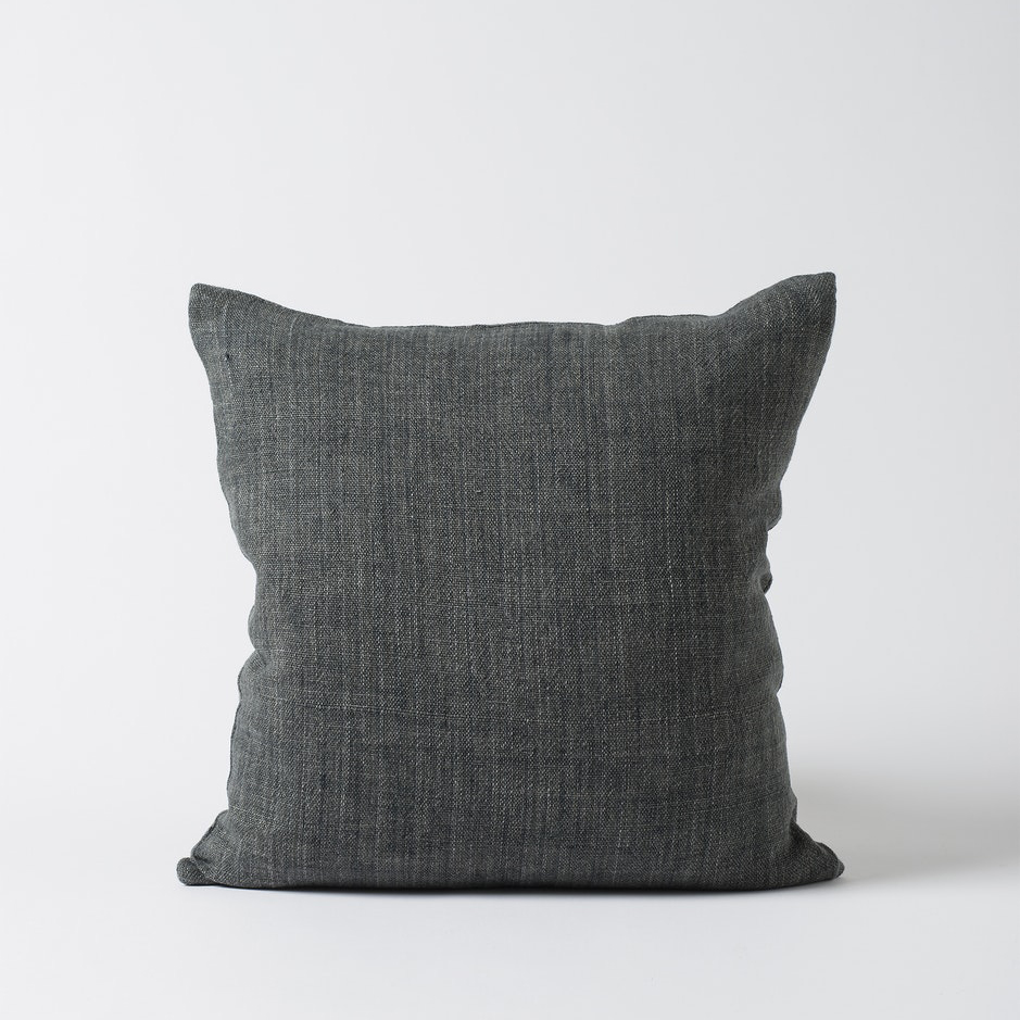 Heavy Linen Cushion Cover Slate
