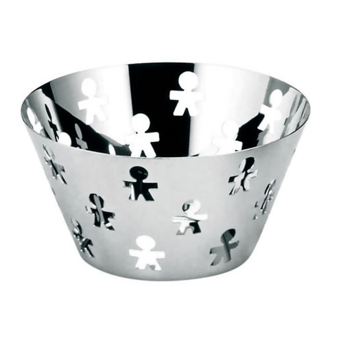 Girotondo Fruit Bowl Stainless Steel 23cm