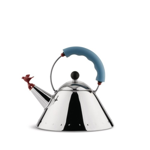 Graves Whistling Bird Kettle with Blue Handle