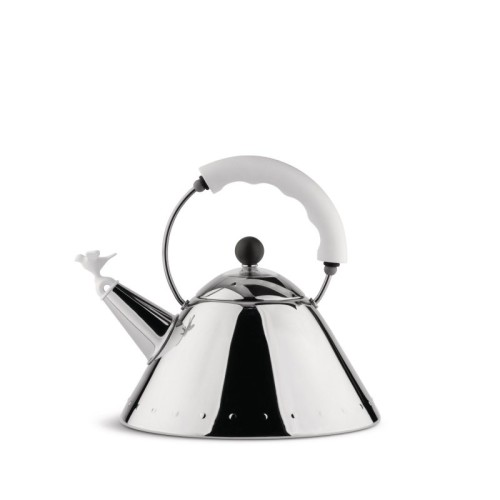 Graves Whistling Bird Kettle with White Handle