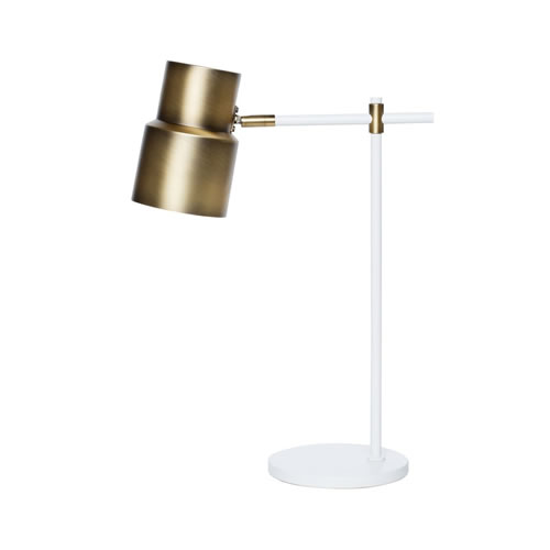 Atticus Table Lamp in White