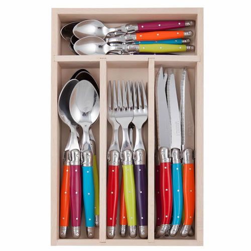 Debutant Mirror Cutlery Set 24 Piece in Wildflower