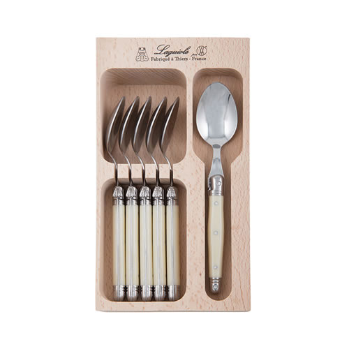 Debutant 6 Piece Tea Spoon Set in Ivory