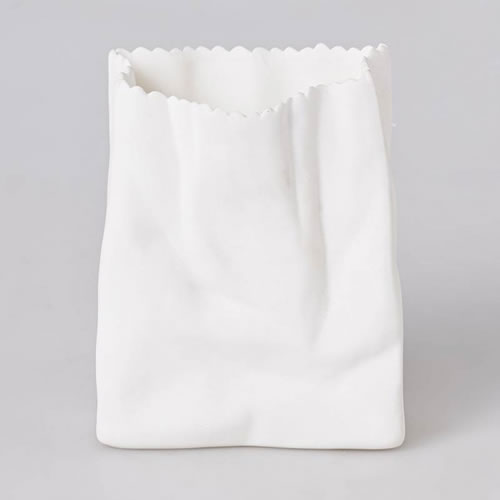 Bone China Paper Bag Vase in Small 8cm