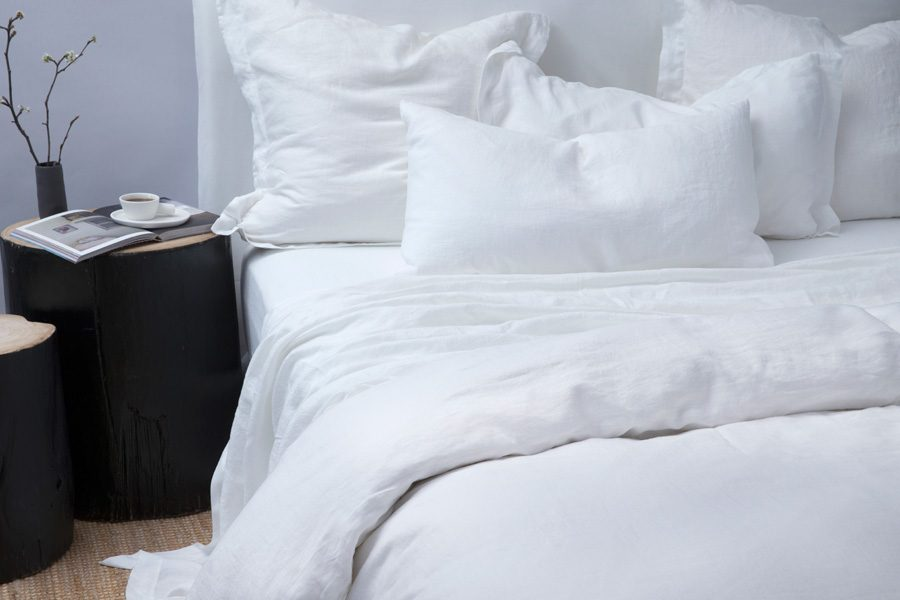 White European Pillowcase Pair