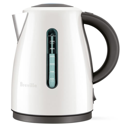 Breville The Soft Top Clear 1.7 Litre Kettle Coconut White