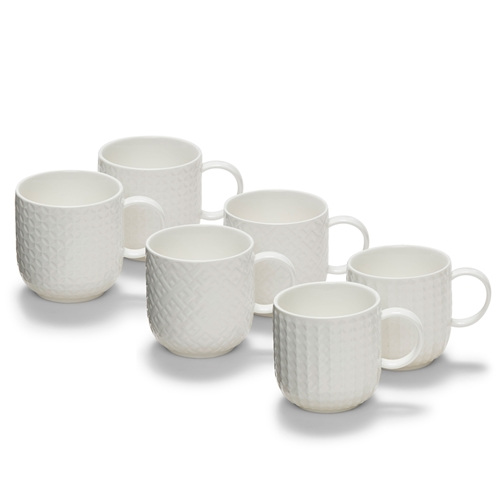 Emboss Mug 300ml Set of Six
