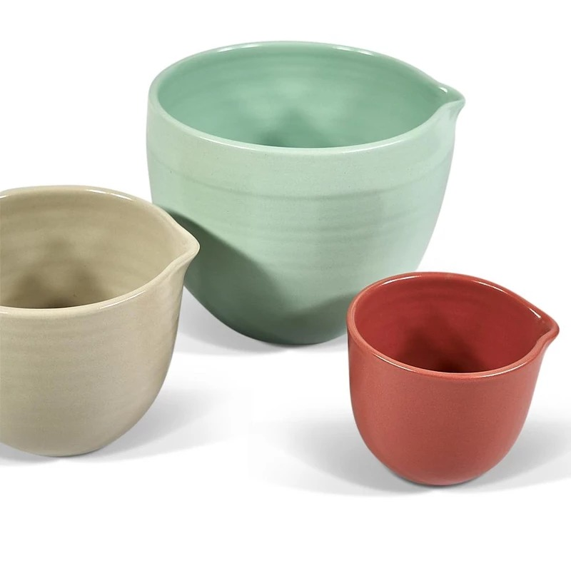Mixing Bowl Set in Peppermint, Mushroom & Melon